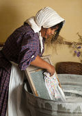 Laundry maid — Stock Photo