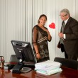 Surprise on Secretary Day — Stock Photo