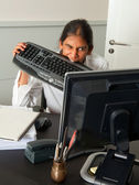 Office frustration — Stock Photo