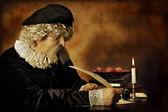 Rembrandt portrait — Stock Photo