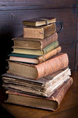 Pmd library pile — Stock Photo