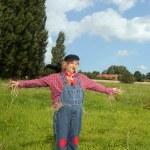 Scarecrow farmer — Stock Photo