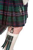 Scottish knife and tartan — Stock Photo