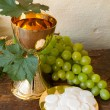 Communion bread and wine — Stock Photo