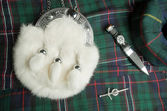 Sporran and Scottish knife — Stock Photo