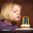 Four candles — Stock Photo