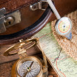 Stock Photo: Old travelling items
