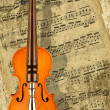 Writing music for violin — Stock Photo #8864655