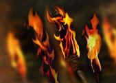 Flaming background — Stock Photo