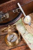 старые элементы путешествия — Стоковое фото