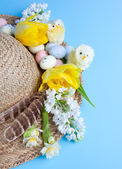 Easter and spring hat — Stock Photo