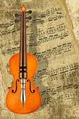 Escribiendo música para violín — Foto de Stock
