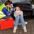 Stock Photo: Injured in car accident