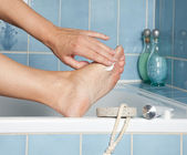 Vård för fötter — Stockfoto