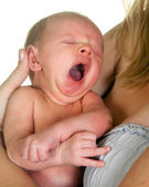Yawning baby — Stock Photo