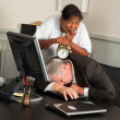 Office manager fallen asleep — Stock Photo