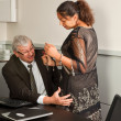 Office sexual harassment — Stock Photo