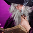 Sorcerer with pipe — Stock Photo