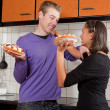 Fighting with pies — Stock Photo #9025800