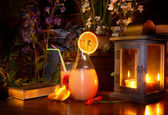 Summer night drink — Stock Photo