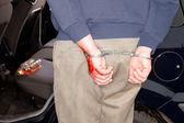 Arrested for drunken driving — Stock Photo