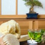 Spa bath products — Stock Photo
