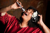 Negro spiritual singer — Stock Photo