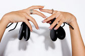 Castanet hands — Stock Photo