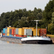 Stock Photo: Container barge