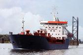 Passing tanker ship — Stock Photo