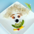 Funny food face snack — Stock Photo