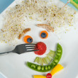 Food face on plate — Stock Photo #9180541