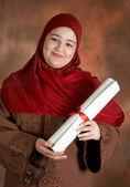 Estudante orgulhoso — Foto Stock