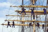 Climbing sailors — Stock Photo