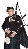 Formal bagpiper — Stock Photo
