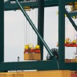 Stock Photo: Antwerp container port