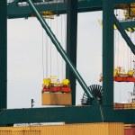 Antwerp container port — Stock Photo