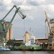 Постер, плакат: Mobile crane in Antwerp port