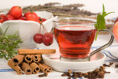 Tea in red — Stock Photo
