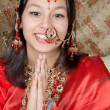 Namaste with a smile — Stock Photo
