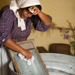 Stock Photo: Washboard chores