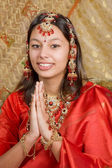 Indian greetings — Stock Photo