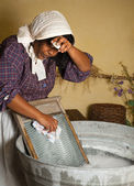 Washboard chores — Stock Photo