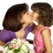 Stock Photo: Mother kissing