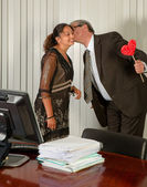 Kiss from the Boss — Stock Photo