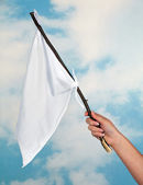 Waving a white flag — Stock Photo
