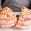 Sharing bread — Stock Photo