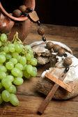 Vin de raisins et pain — Photo