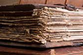 Medieval pages — Stock Photo