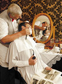 Victrorian shave — Stock Photo